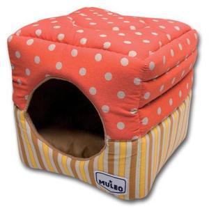 Домик для собак и кошек Katsu Muleo М, размер 35x35x18см., оранжевый