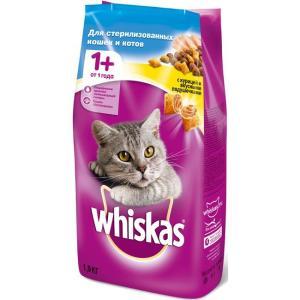 Корм для кошек Whiskas Подушечки, 1.9 кг, курица