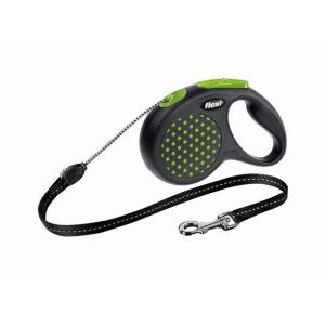 Поводок-рулетка для собак Flexi Design Classic S, зеленый