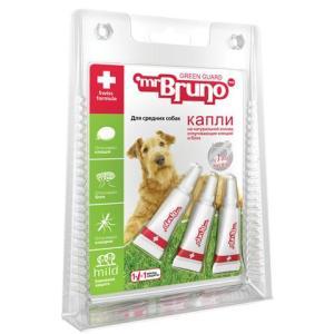 Капли для собак средних пород Mr. Bruno Green Guard