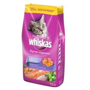 Сухой корм для кошек Whiskas Паштет, 1.9 кг, лосось