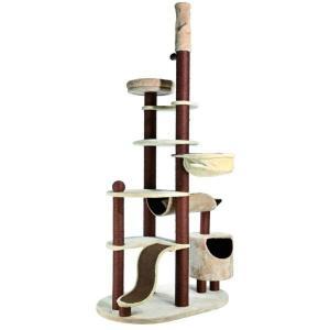 Игровой комплекс для кошек Trixie Nataniel, размер 119х79х250см., бежевый