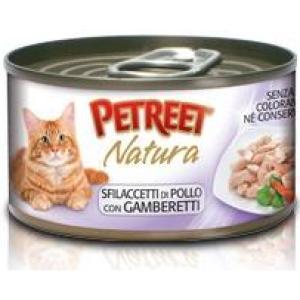 Консервы для кошек Petreet Natura, 70 г, куриная грудка с креветками