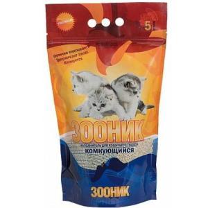 Наполнитель для кошачьего туалета Зооник, 4 кг, 5 л