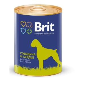 Корм для собак Brit Beef & Heart, 850 г, говядина и сердце