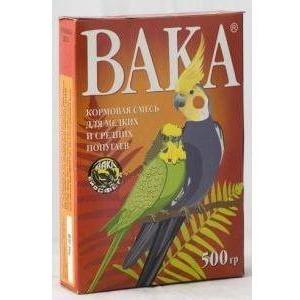 Корм для попугаев Вака, 500 г