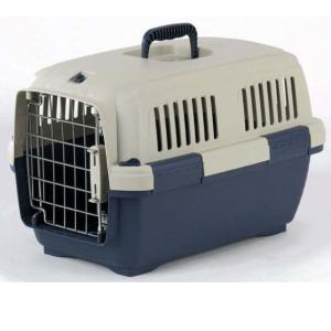 Переноска для собак и кошек Marchioro Clipper Cayman, размер 1, размер 50х33х32см., бежевый/синий