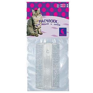 Расческа для собак и кошек Дарэлл 0111, размер 9.5х5х0.2см.