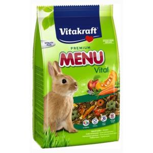 Корм для кроликов Vitakraft Menu Vital, 1 кг, злаки, экстракты овощей, фрукты