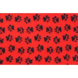 Лежак для собак и кошек ProFleece Ltd, размер 100х160см., красный/черный
