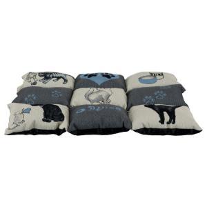 Лежак для кошек Trixie Patchwork Cat, размер 55х45см., серый / светло-синий