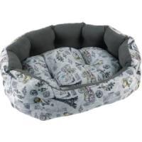 Фотография товара Лежак для собак Fauna International Paris Grey, 1 кг, размер 53x42x16см.