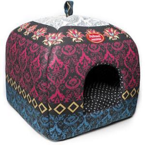 Домик для собак и кошек Родные Места Звезда Востока, размер 33х33х42см.