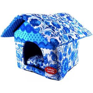 Домик для собак и кошек Родные Места Гжель, размер 32x33x36см.