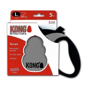 Поводок-рулетка для собак Kong TERRAIN L, серый