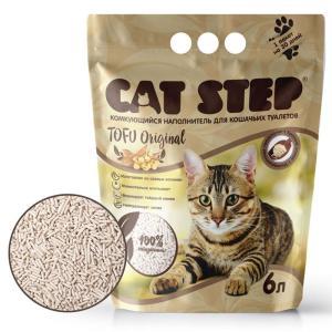 Наполнитель для кошачьих туалетов Cat Step Tofu Original, 2.7 кг, 6 л