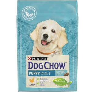 Сухой корм для щенков Purina Dog Chow Puppy Junior, 2.5 кг, курица