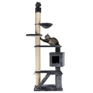 Домик-когтеточка для кошек Trixie Tizian, размер 77x57x240см., серый