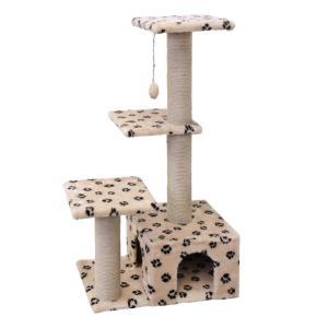 Домик-когтеточка для кошек Гамма, размер 59x37x111см., цвета в ассортименте
