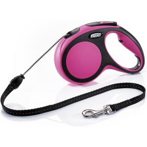 Рулетка для собак Flexi New Comfort M Cord, розовый