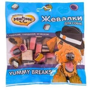 Лакомство для собак Мнямс Yummy Breaks, курица, говядина и ягненок