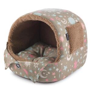 Домик для собак и кошек Гамма Лукошко, размер 33х30х30см., цвета в ассортименте