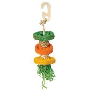 Игрушка для птиц Triol Разноцветные дольки, размер 19/24х6см.