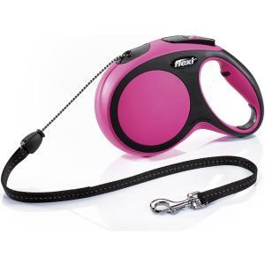 Поводок-рулетка для собак Flexi New Comfort M Cord, розовый