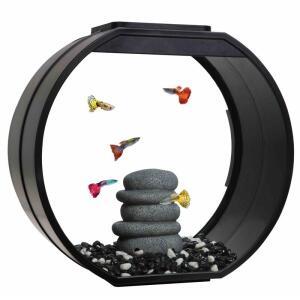 Аквариум для рыб AA-Aquarium Deco O UPG, размер 39.5x18.7x37.5см., черный