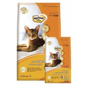 Корм для кошек Мнямс Sterilized, 1.5 кг, индейка