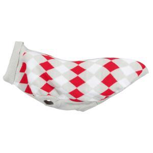 Свитер для собак Trixie Pollino XXS, серый/белый/красный