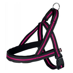 Шлейка для собак Trixie Fusion Norwegian M, черный / розовый
