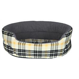 Лежак для собак и кошек Trixie Lucky L, размер 85х75см., бежевый / серый
