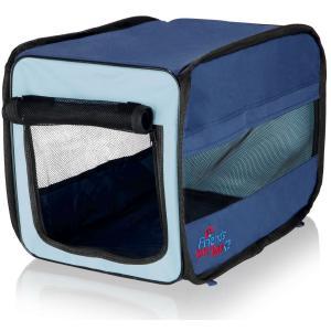 Сумка-переноска для собак и кошек Trixie Twister Mobile Kennel M, размер 45х45х64см., синий