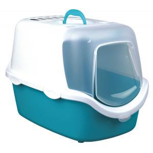 Туалет-домик для кошек Trixie Vico Easy Clean, размер 40×40×56см., бирюзовый / белый