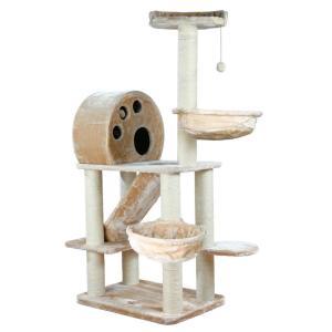Домик-когтеточка для кошек Trixie Allora, размер 77х57х176см., бежевый