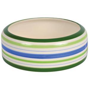Миска для грызунов Trixie Ceramic Bowl L, 500 мл, размер 16см., зелёный / синий / кремовый