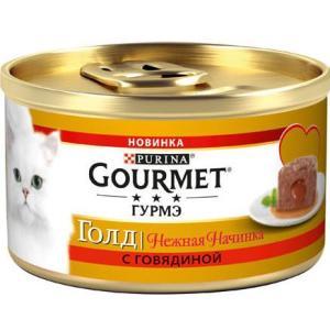 Корм для кошек Gourmet Melting Heart, 85 г, говядина