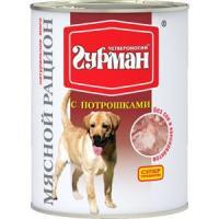 Фотография товара Корм для собак Четвероногий гурман мясной рацион, 850 г, потрошки