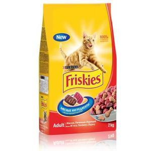 Корм для кошек Friskies Мясное ассорти, 10 кг, мясо с печенью и курицей