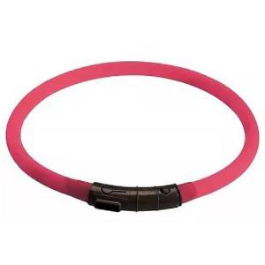 Светящийся ошейник для собак Hunter LED Silicon Dog Tube, розовый