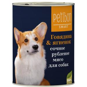 Корм для собак Четвероногий гурман Petibon Smart, 410 г, говядина с ягненком
