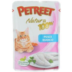 Корм для кошек Petreet Natura, 85 г, белая рыба