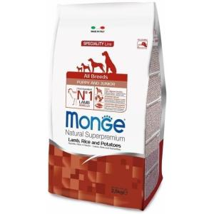Корм для щенков Monge Dog Puppy and Junior, 2.5 кг, ягненок с рисом
