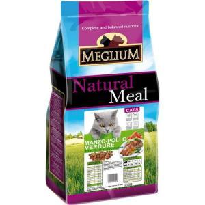 Корм для кошек MEGLIUM Cat Adult, 15 кг, говядина с курицей и овощами