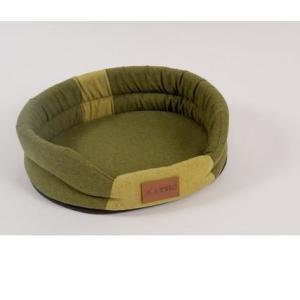Лежак для собак Katsu Animal M, размер 72х60см., хаки/салатовый