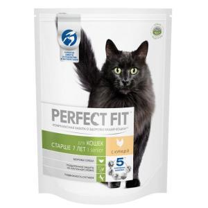 Корм для кошек Perfect fit Senior, 650 г, курица