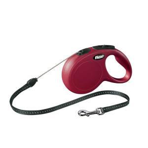 Поводок-рулетка для собак Flexi New Classic S, красный