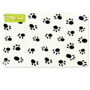 Коврик под миску для собак и кошек Triol Лапки, размер 43x28см.