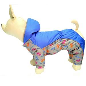 Комбинезон  для собак Osso Fashion, размер 20, серый/синий